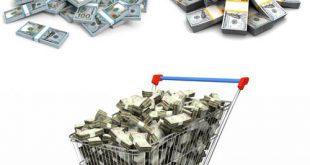 عکس استوک بسته های دلار ۷۰۰۰×۴۶۶۷