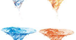 طرح لایه باز گرداب در 4 رنگ psd