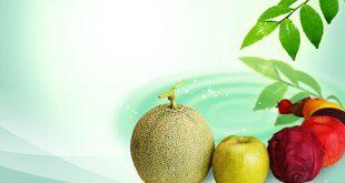 طرح بکگراند کارت ویزیت فروشگاه میوه psd