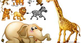 مجموعه وکتور کارتونی اتاق کودک AI و TIF