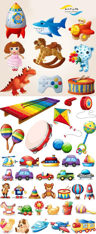 وکتور اسباب بازی کودکانه AI و TIF