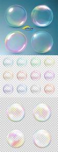 وکتور حباب رنگارنگ AI و TIF