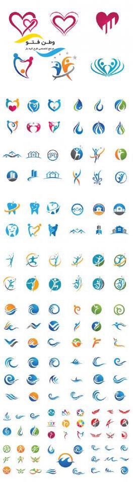 مجموعه وکتور لوگو گوناگون EPS