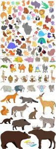 مجموعه وکتور حیوانات فانتزی AI و TIF