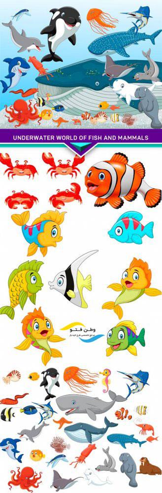 وکتور ماهی فانتزی کارتونی AI و TIF