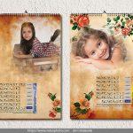 تقویم دیواری 96 فون کودک psd