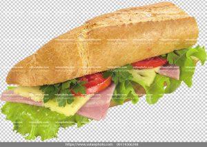 عکس بدون بکگراند ساندویچ کالباس پنیر