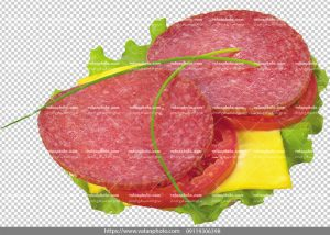 عکس با کیفیت ساندویچ کالباس و پنیر
