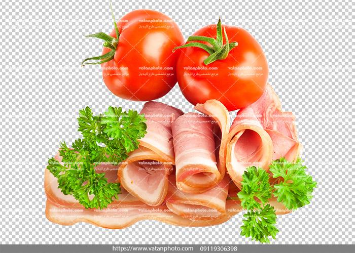 عکس بدون بکگراند ترانسپارنت بیکن گوشت 11