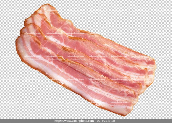 عکس بدون بکگراند ترانسپارنت بیکن گوشت 13