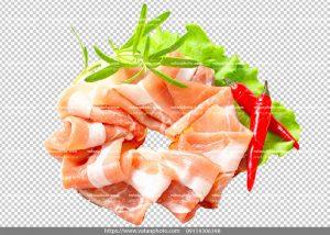 عکس بدون بکگراند ترانسپارنت بیکن گوشت 15