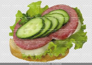 عکس بدون بکگراند ساندویچ ژامبون