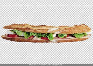 عکس بدون بکگراند ساندویچ کالباس