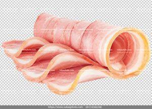 عکس بدون بکگراند ترانسپارنت بیکن گوشت 3