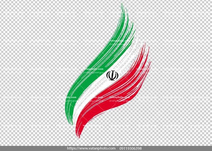 عکس ترانسپارنت با کیفیت پرچم ایران