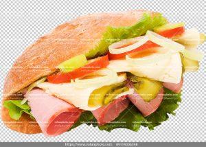 عکس با کیفیت ساندویچ ژامبون کالباس