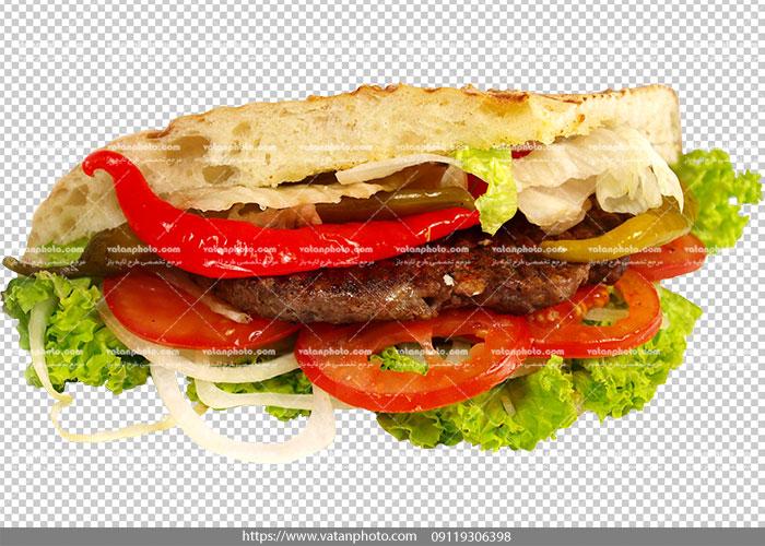 عکس با کیفیت ساندویچ همبرگر