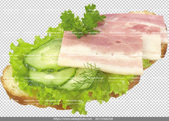 عکس با کیفیت ژامبون گوشت