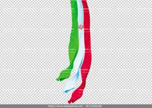 عکس png ترانسپارنت پرچم ایران