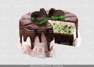 عکس بدون بکگراند کیک شکلاتی وانیلی
