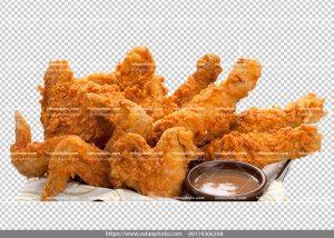 عکس بدون بکگراند بال مرغ سوخاری شده