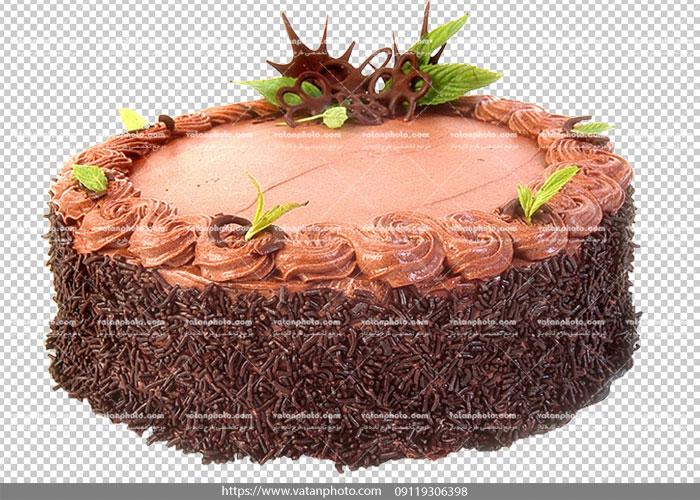 عکس بدون بکگراند کیک شکلاتی نسکافه