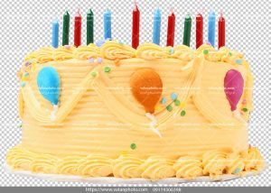 عکس بدون بکگراند کیک تولد موزی
