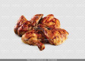 عکس بدون بکگراند ران مرغ سرخ شده
