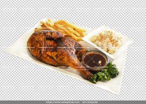 عکس ترانسپارنت مرغ سیب زمینی سرخ شده