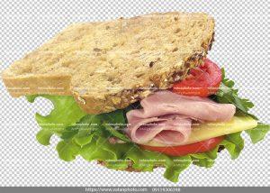 ساندویچ با کیفیت ژامبون گوشت