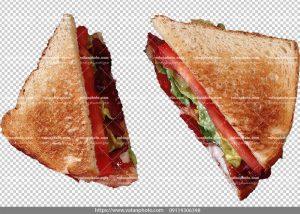 عکس بدون بکگراند ساندویچ مثلثی