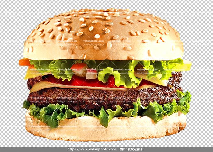 عکس بدون بکگراند ساندویچ همبرگر