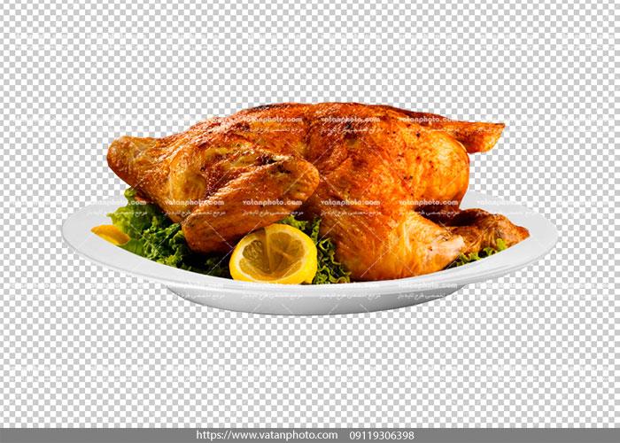 عکس بدون بکگراند مرغ بریان کامل