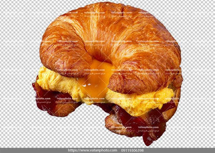 عکس بدون بکگراند ساندویچ صبحانه