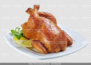 عکس بدون بکگراند دور بر شده مرغ بریان