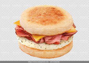 عکس دور بر شده ساندویچ کالباس