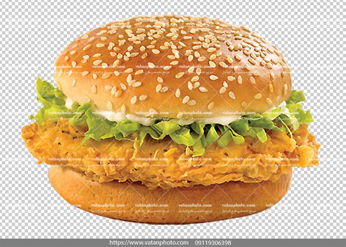عکس بدون بکگراند ساندویچ گرد