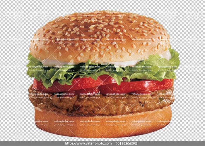 عکس بدون بکگراند همبرگر پنیر