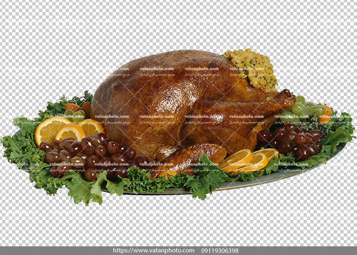 عکس با کیفیت مرغ شکم پر رب انار