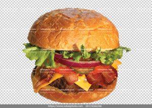 عکس دور بر شده ساندویچ همبرگر