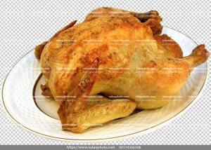 عکس با کیفیت بدون بکگراند مرغ سرخ شده