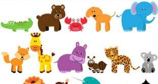 وکتور حیوانات فانتزی کارتونی AI و TIF