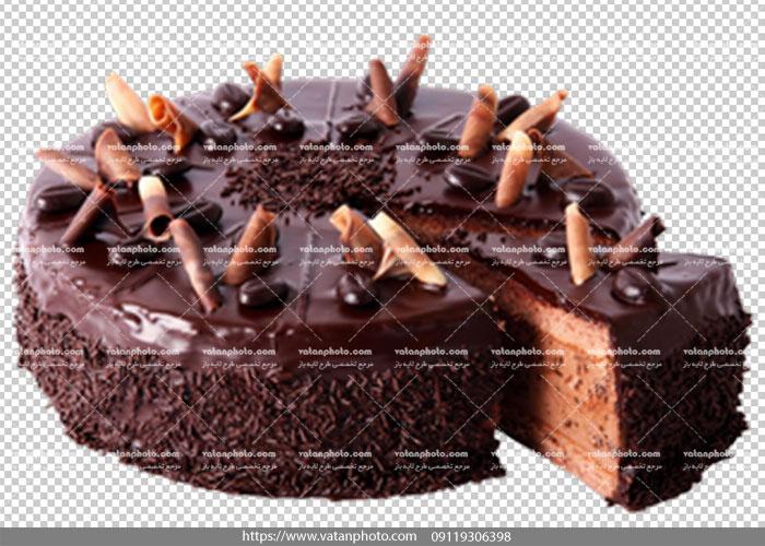 عکس ترانسپارنت کیک شکلاتی