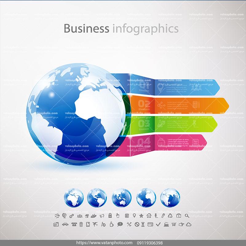 اینفوگرافی کسب و کار جهانی