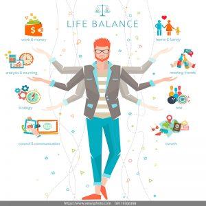 اینفوگرافیک زندگی متعادل