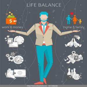 اینفوگرافی حفظ تعادل در زندگی