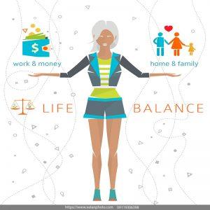 اینفوگرافیک تعادل در زندگی