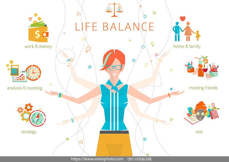 اینفوگرافیک تعادل زندگی