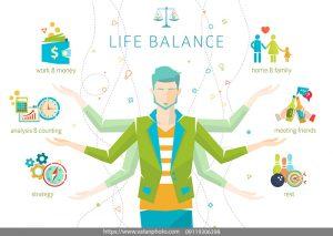 اینفوگرافیک حفظ تعادل زندگی