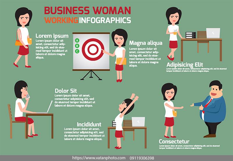 اینفوگرافی کسب و کار محیط زنان